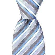 Corbatas Lazo Rayado De Scott Allan Hombres Púrpura / Gris
