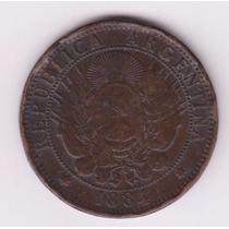 Argentina 1884 Moneda 2 Centavos De Cobre De Patacón