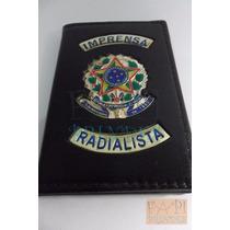 Carteira E Porta Funcional De Imprensa Radialista Rádio M07p