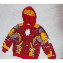 Blusa Moletinho Infantil Homem De Ferro Super Herói Ironman