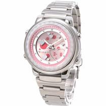 Reloj Casio Metal Mujer Exclusivo Law-25d-4a Nuevo Original