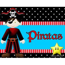 Invitaciones De Piratas Diseñá Tarjetas , Cumples Y Mas