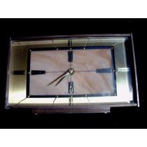 Reloj Ingles De Pila Metamec Bronce Y Marmol