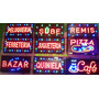 Cartel Led Kiosco Abierto Café Bar Sube Pizza A 220 Volt