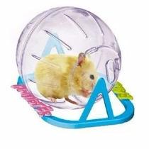 Hamster Ball - Bola Acrílico Para Hamsters Com Suporte 13 Cm
