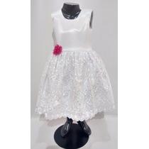 Vestido Bautizo, Pajecita Novia Para Niña Talla 2