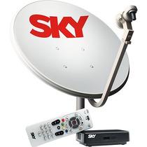 Antena Sky 90 Cm Completa Com Receptor Promoção+brinde