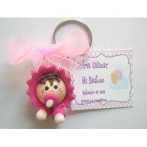 Recuerdos Llaveros Bebes Pasta Francesa Flexible Bautizo
