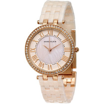 Reloj Anne Klein Swarovski Crystal Rosa Mujer Ak/2130rglp