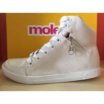 5616101 Tênis Moleca Sneaker Branco/preto 33 Ao 40