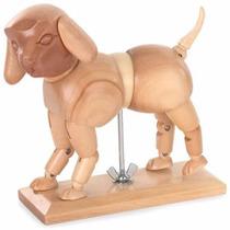 Modelo Perro Articulado De Madera Para Dibujo
