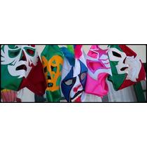 Lote De 10 Mascaras De Luchadores P/adulto Varios Modelos,!!