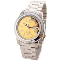 Seiko Snkk29k1 Reloj Análogo Hombre, Cristal Mineral, 38 Mm