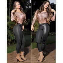 Calça Feminina Legue Legging Montaria Tecido Grosso C/ Cirre