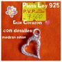 Dije Elaborado En Plata Ley 925 - Corazón - Oferta!