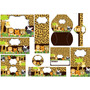 Kit Imprimible Safari Animal Print Tarjetas Cumpleanos No 3
