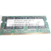 Memoria Notebook Hynix Ddr2 2gb 2rx8 Pc2 6400s 666 - 12