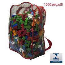 Blocos De Montar 1000 Peças Bloquinhos Brinquedo