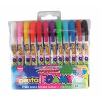 Pinta Foamy Crayon Foami Fomi Foami Estuche D 12 Pzas Pascua