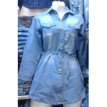 Vestidos Cortos De Jeans Para Jovenes Y Damas !!!