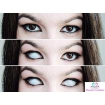 Olhos Cosplay - Lens Branca Mesh- Zombie - Halloween