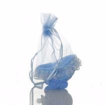 Kit Com 28 Lembrançinha Bebê, Reçem Nascido Azul Berçinho