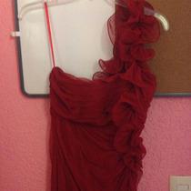 Vestido De Fiesta Rojo, Marca Nikki Italy
