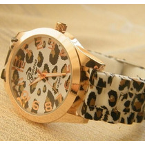 Reloj Mujer Animal Print Leopardo De Silicona 2 X 49 Soles