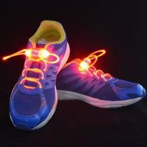 Cadarço Luminoso Led Vermelho Neon Para Tênis (par) Hutz