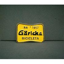 Placa De Licenciamento Bicicleta Antiga Goricke