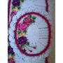 Lindo Jogo De Banheiro, Com Flores Coloridas, Todo De Crochê