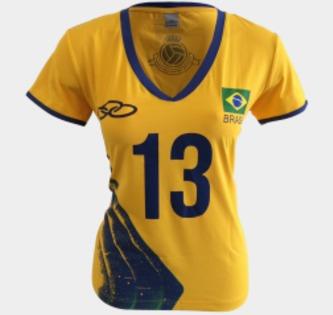 Camiseta Olympikus Brasil Vôlei Cbv Feminina 2016 Sheilla - R  159 ... 61547d750a44d