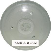 Plato De Microondas Ø 27 Cm P/ Whirlpool Atma C/factura A/b