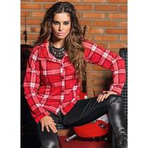 Camisa Xadrez Feminina, Lançamento Sertanejo Envio Em 24 H