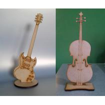 12 Figuras Guitarra 13 Chelos 45 Cm Y Un Chelo 85 Cms. Mdf