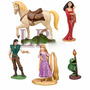 Play Set En Caja 5 Figuras Rapunzel Enredados Adorno Torta