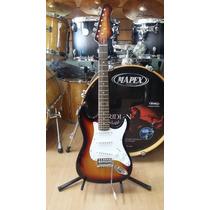 Kansas Junior Mini Guitarra Electrica Stratocaster Para Niño