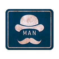 Placas Decorativas Mdf Toilet Man - Retrô Vintage Nasil-031