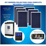 Kit 12 Energía Solar Power 1500w Panel 2400w Inv Senoidal