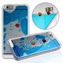 Funda 3d Liquida Con Color Y 2 Peces Iphone 5/5s