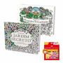 Livros Jardim Secreto E Floresta Encantada + Lápis 48 Cores#