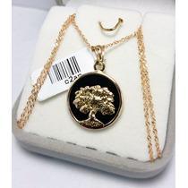 Cadena Singapur 50cm Y Medalla Arbol De La Vida