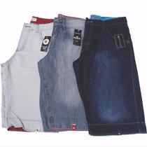 Kit 03 Bermudas Jeans Masculina Slim, Preço Promocional!