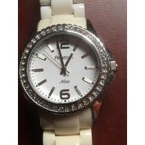 Reloj Armitron Now Dama Blaco Con Piedras Envio Gratis #183
