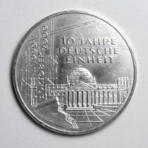 Rara Moeda Prata Da Alemanha Comemorativa 10 Marcos De 2000
