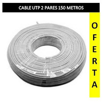Cable 2 Pares Utp Rollo De 150 Metros
