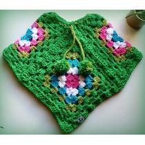 Poncho Nena. Tejido Crochet.
