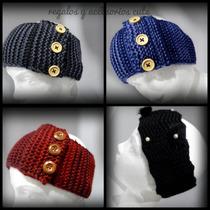 Banda Tejida O Turbante Para Cabello, Diadema Crochet.
