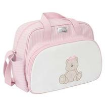 Bolsa Maternidade Patch Ursos Rosa Pur022 - Hey Baby