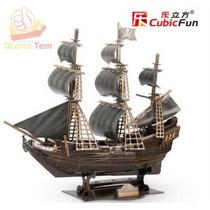 Quebra Cabeça 3d 155 Peças Navio Pirata The Queen Anne